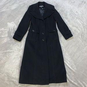 Black peacoat / trench coat